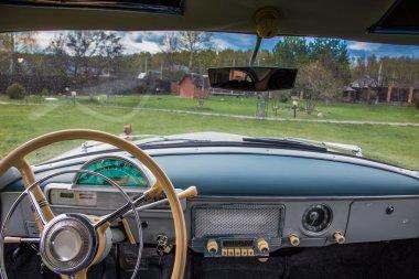 Vintage car interior GAZ M21 Volga