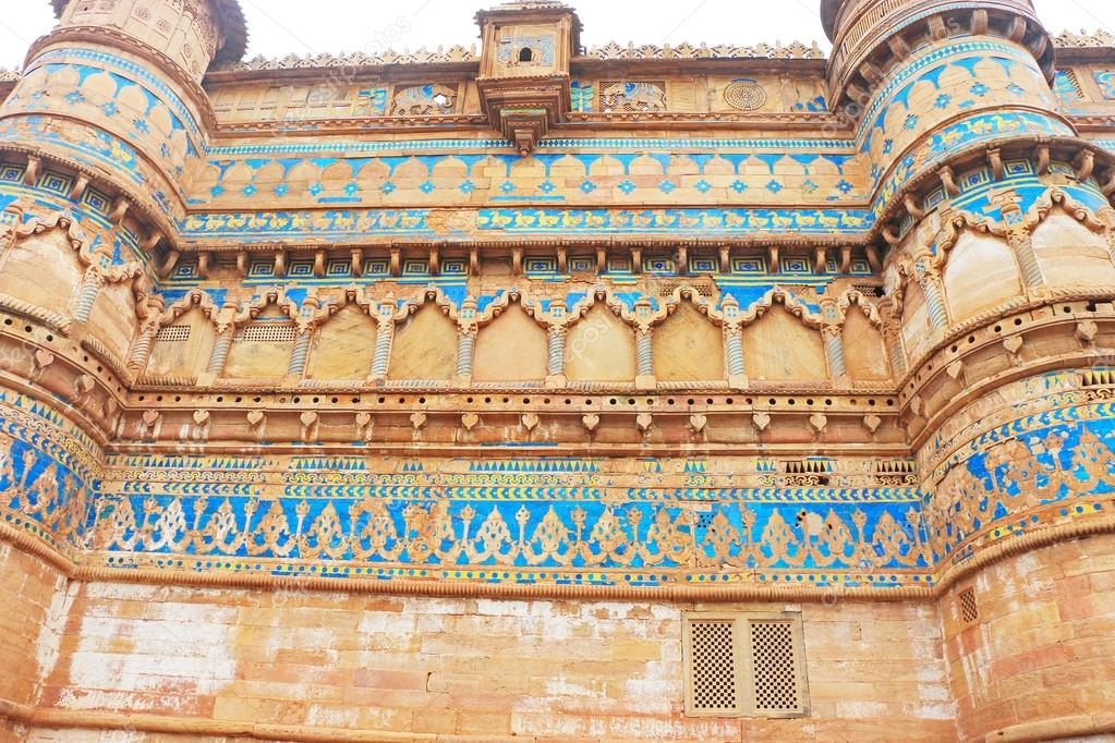 La Superbe Du Viiie Siècle Gwalior Fort Madhya Pradesh Inde