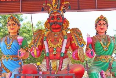 Auroville shrine and shiva religious statues