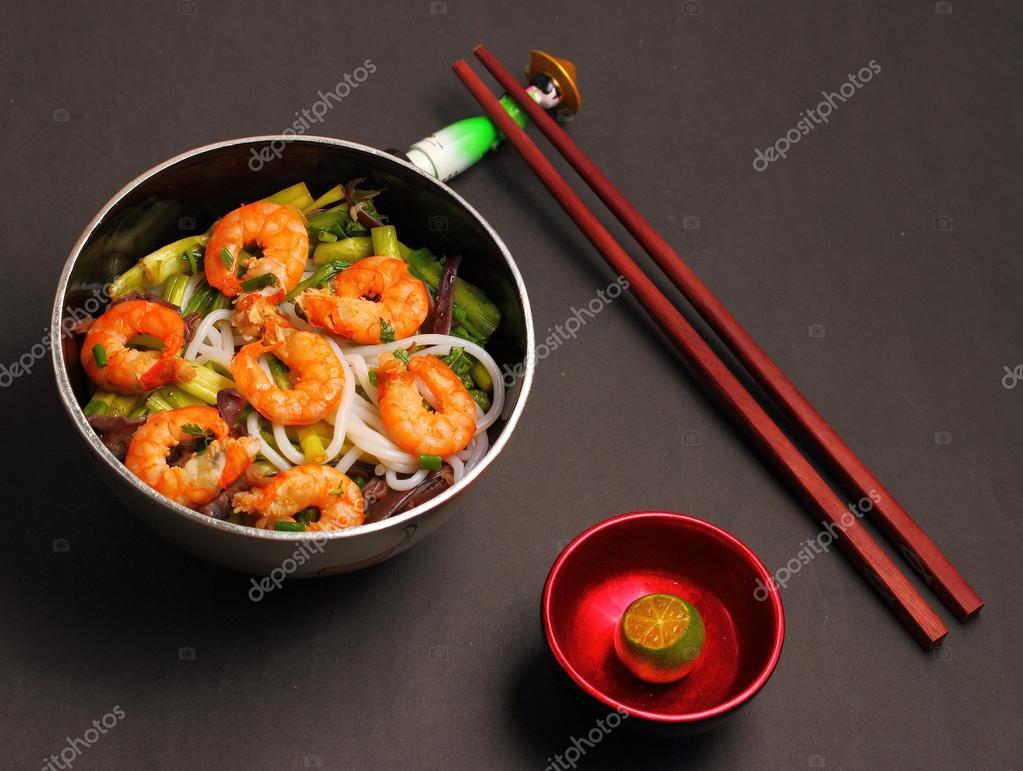 Vietnamese shrimp pho soup — Stock Photo © awesomeaki #72863843
