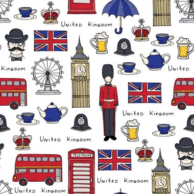 Vector pattern on the theme of United Kingdom