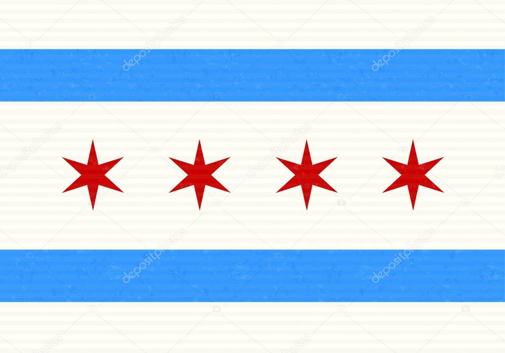 chicago flag — stock vector © kup #55850205