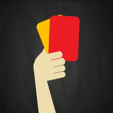 Referee red and yellow cards