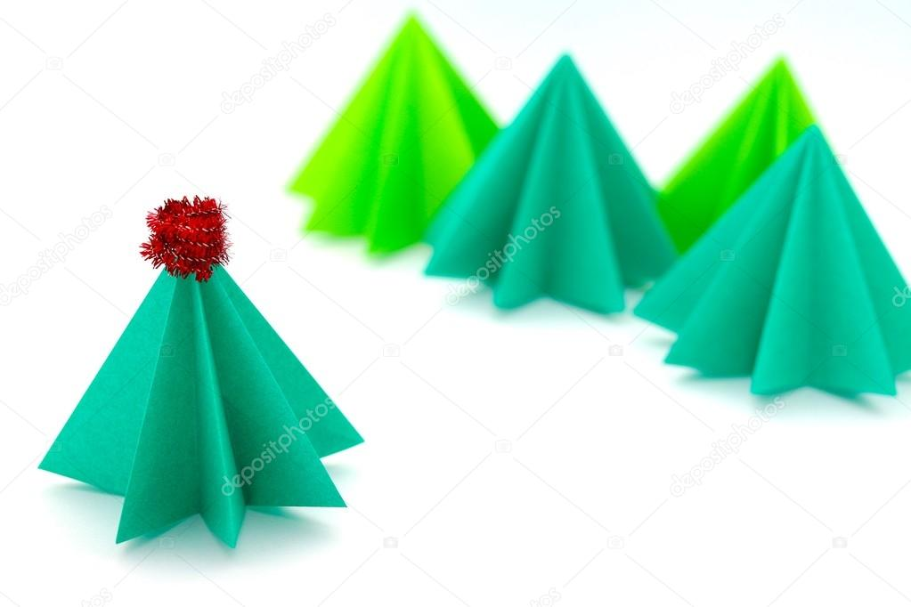 Japanese style Christmas tree with kokeshi and origami paper ... | 682x1023