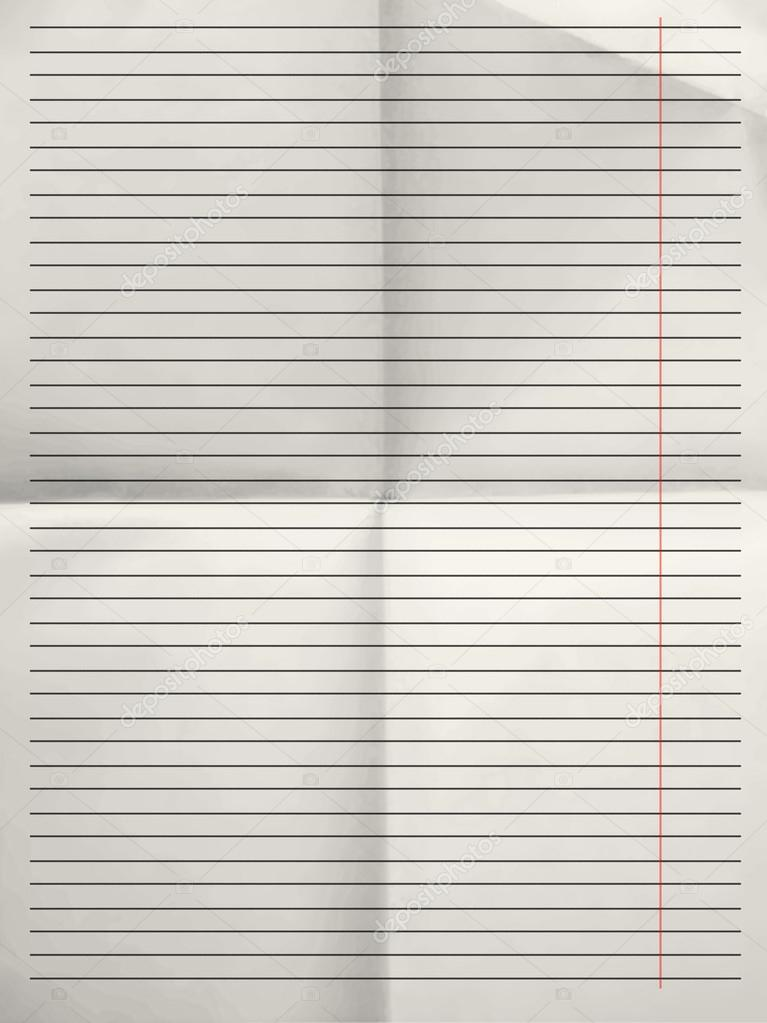 Old sheet of lined paper background with margin Photo – Four Ruled Paper
