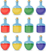 Colored small bottles