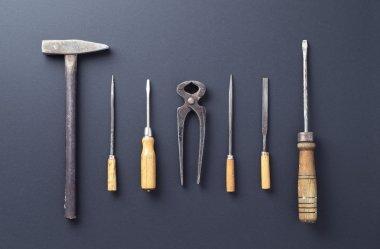 Work tools over dark