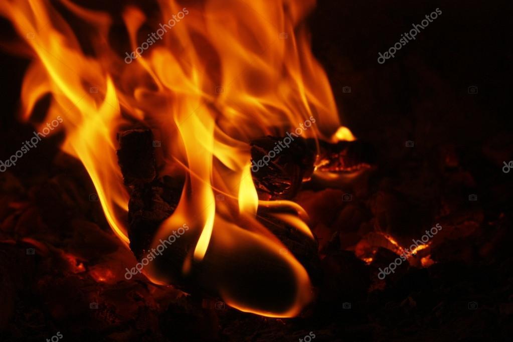 Campfire. Prepare to barbecue.