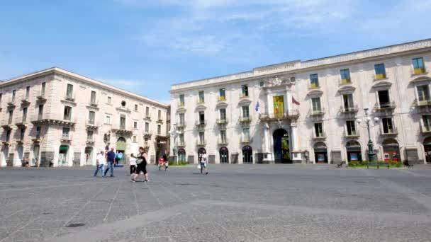 Catania, Itálie, pohled na náměstí University Square