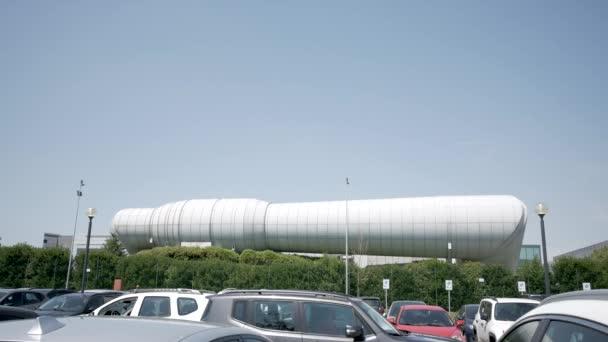 Maranello, Itálie, pohled na větrný tunel Ferrari