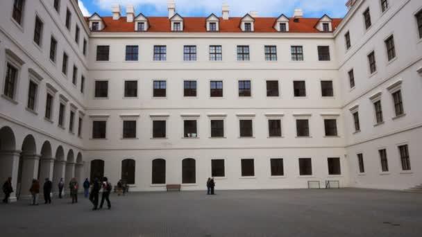 Bratislava, Slovensko, dvůr uvnitř zámku