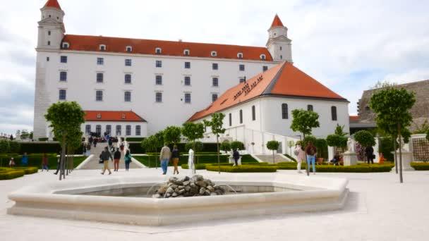Bratislava, Slovensko, pohled na východní křídlo hradu