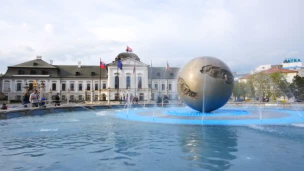 Bratislava, Slowakei, Pfanne des Grassalkovich-Präsidentenpalastes
