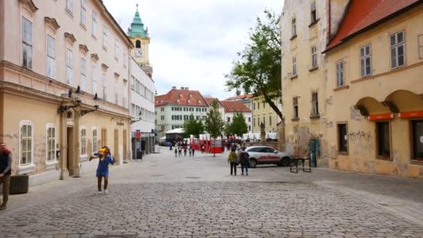 Bratislava, Slovensko, pohled na Frantiknskou ulici