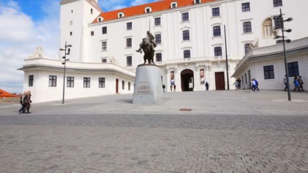 Bratislava, Slovensko, část náměstí před Bratislavským hradem