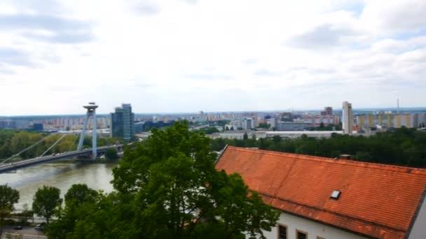Bratislava, Slovensko, část nového mostu na Dunaji
