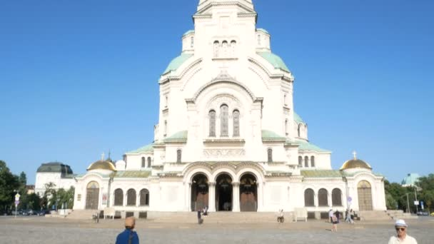 Sofia, Bulgaria, tilt up of Cathedral Saint Aleksandar Nevski