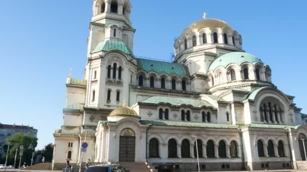 Sofia, Bulgaria, panoramic view of Cathedral Saint Aleksandar Nevski