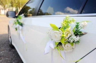 decoration on wedding car