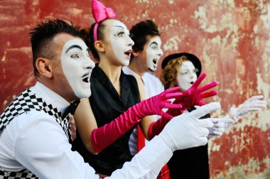 memes represent different emotions. four mime