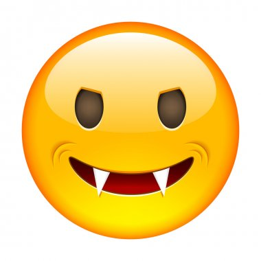 Excited Emoticon. Smile icon.