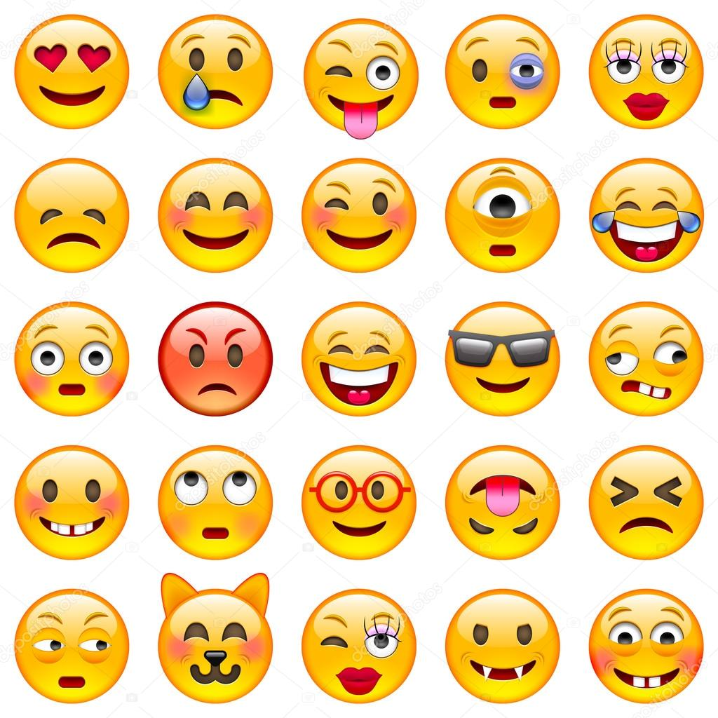 Set of Emoticons. Set of Emoji