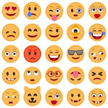 Set of smile Emoticons.