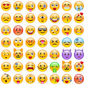 Fotografie Satz von Lächeln emoticons