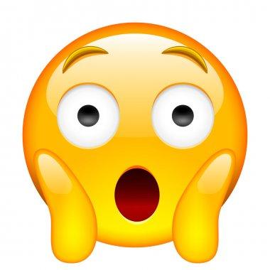 Face Screaming in Fear. Screaming in Fear Emoji
