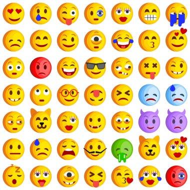 Set of Emoticons. Set of Emoji. Smile icons
