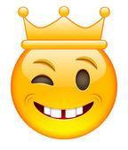 Eyewink tvář s korunou. Eyewink emotikony s korunou