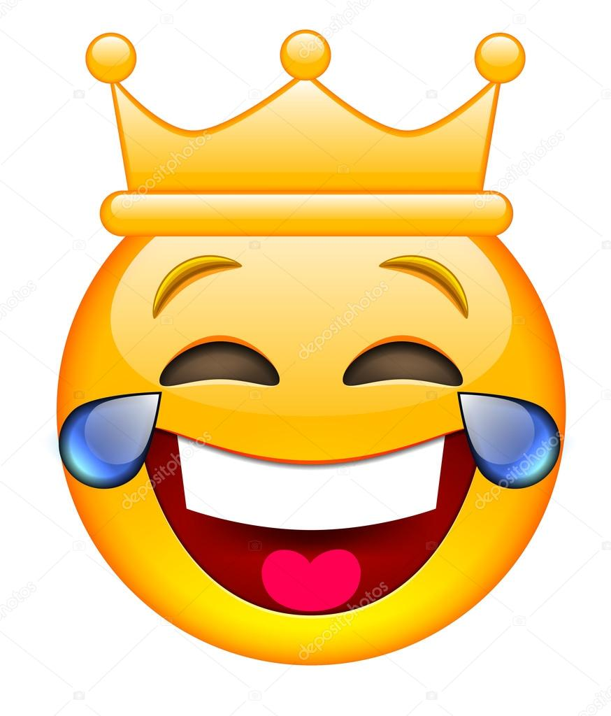 laughing face with crown stock vector ober art 123807320