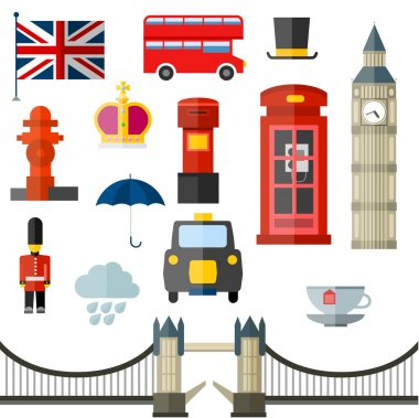 London vintage retro icons