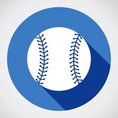 Baseball ball sign icon