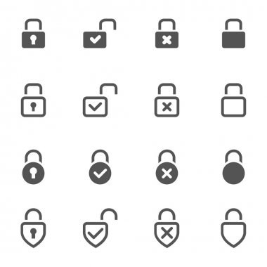 Locks Icons on white background