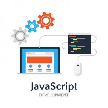 JavaScript flat illustration