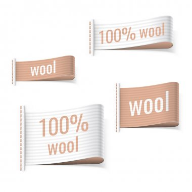 100 percent wool product labels