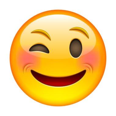 Yellow Eyewink emoticon