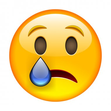 Yellow Crying Emoticon