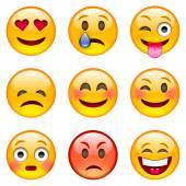 Fotografie Set of Cartoon Emoticons
