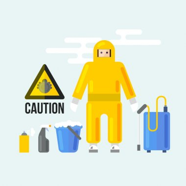 Chemical Cleaning Services Icons