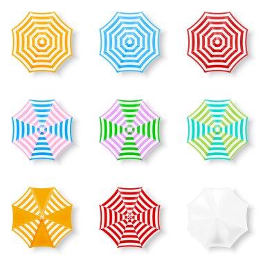 Set of Beach Umbrellas icons