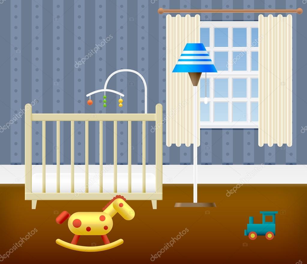 Habitación de bebé con muebles — Archivo Imágenes Vectoriales © ober ...