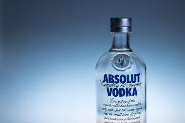 Bottle of Swedish vodka Absolut.