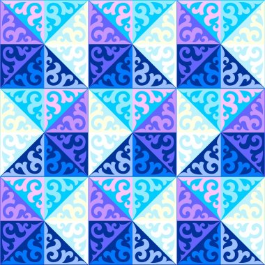Kazakh national patterns and ornaments