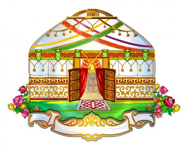 Ger, yurt, house, wedding yurt Kyrgyz yurt, өg, tundyuk, shanyrak