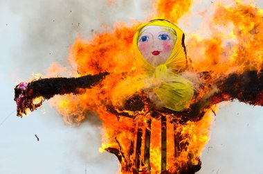 Burning of scarecrow of Shrovetide