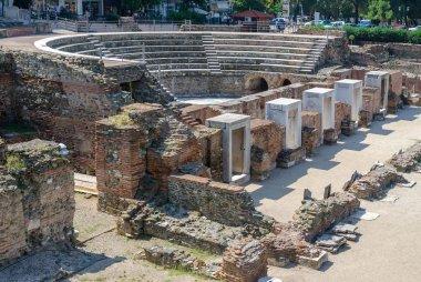 Greece, Thessaloniki, the ruins of the Roman Forum (I - IV century AD.)