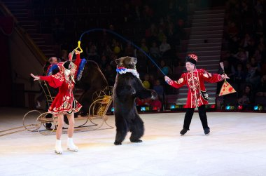 Moscow Circus on Ice with number Trained bears