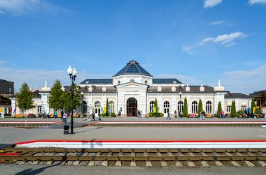 Railway station in Mogilev, Belarus